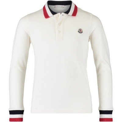 Picture of Moncler 8310105 kids polo shirt off white