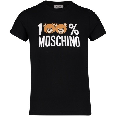 Picture of Moschino HNM00I kids t-shirt black
