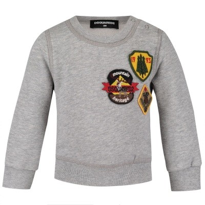 Picture of Dsquared2 DQ031S baby sweater grey