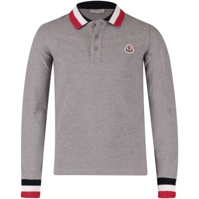 Picture of Moncler 8310105 kids polo shirt grey