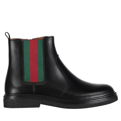 Picture of Gucci 433137 BMN60 kids boots black