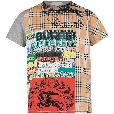 Picture of Burberry 8002337 kids t-shirt gray