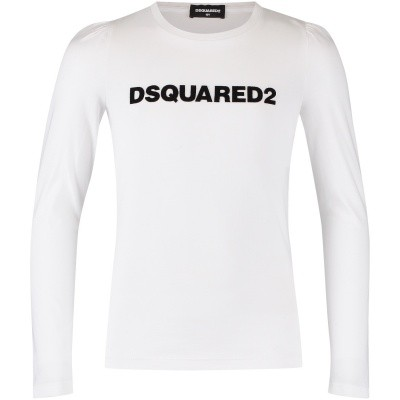 Picture of Dsquared2 DQ02XW kids t-shirt white