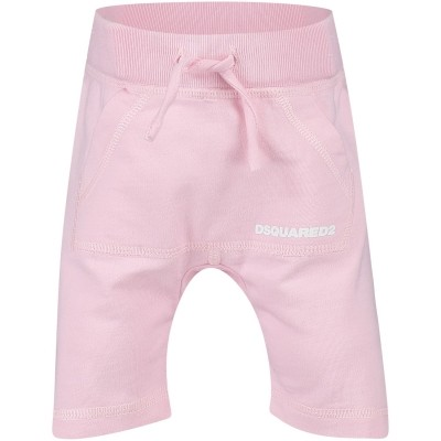 Picture of Dsquared2 DQ025L baby sweatsuit light pink