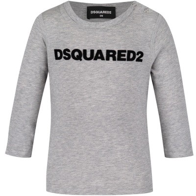 Picture of Dsquared2 DQ02ZQ baby shirt grey