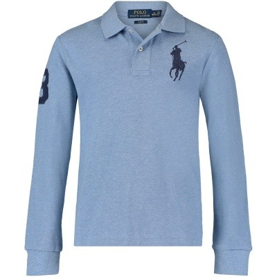 Picture of Ralph Lauren 323708862 kids polo shirt light blue