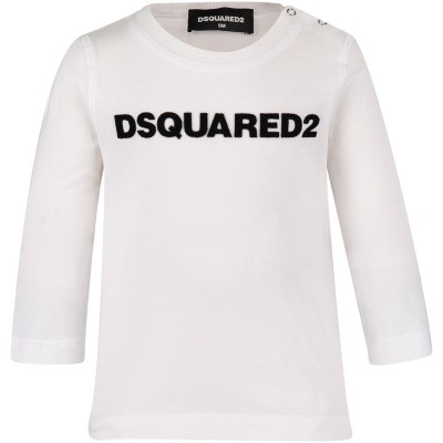 Picture of Dsquared2 DQ02ZQ baby shirt white