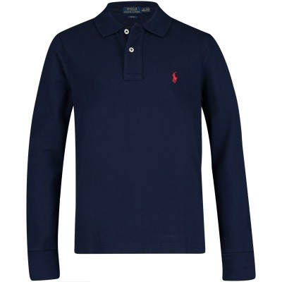 Picture of Ralph Lauren 323708858 kids polo shirt navy