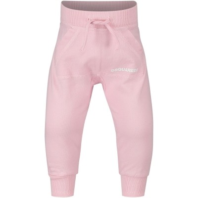 Picture of Dsquared2 DQ01CL baby sweatsuit light pink