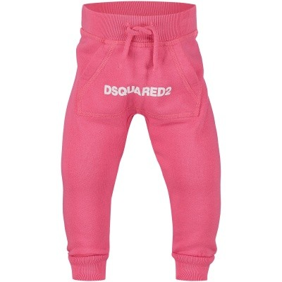 Picture of Dsquared2 DQ031N baby pants pink