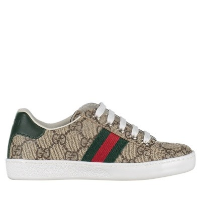Picture of Gucci 433149 9C210 kids sneakers brown