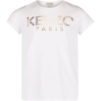 Picture of Kenzo KM10008 kids t-shirt white