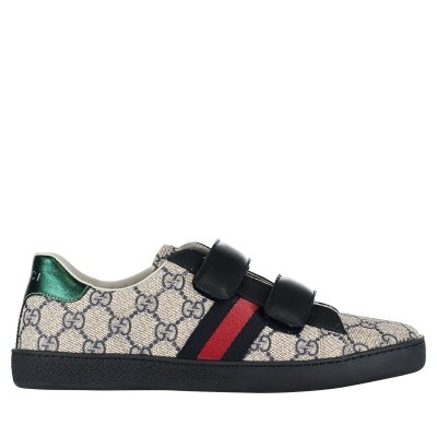 Picture of Gucci 463091 KUSU0 kids sneakers silver