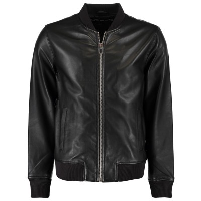 Picture of Pure White 18010407 men jacket black