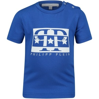 Picture of Philipp Plein ATK0003 baby shirt cobalt blue