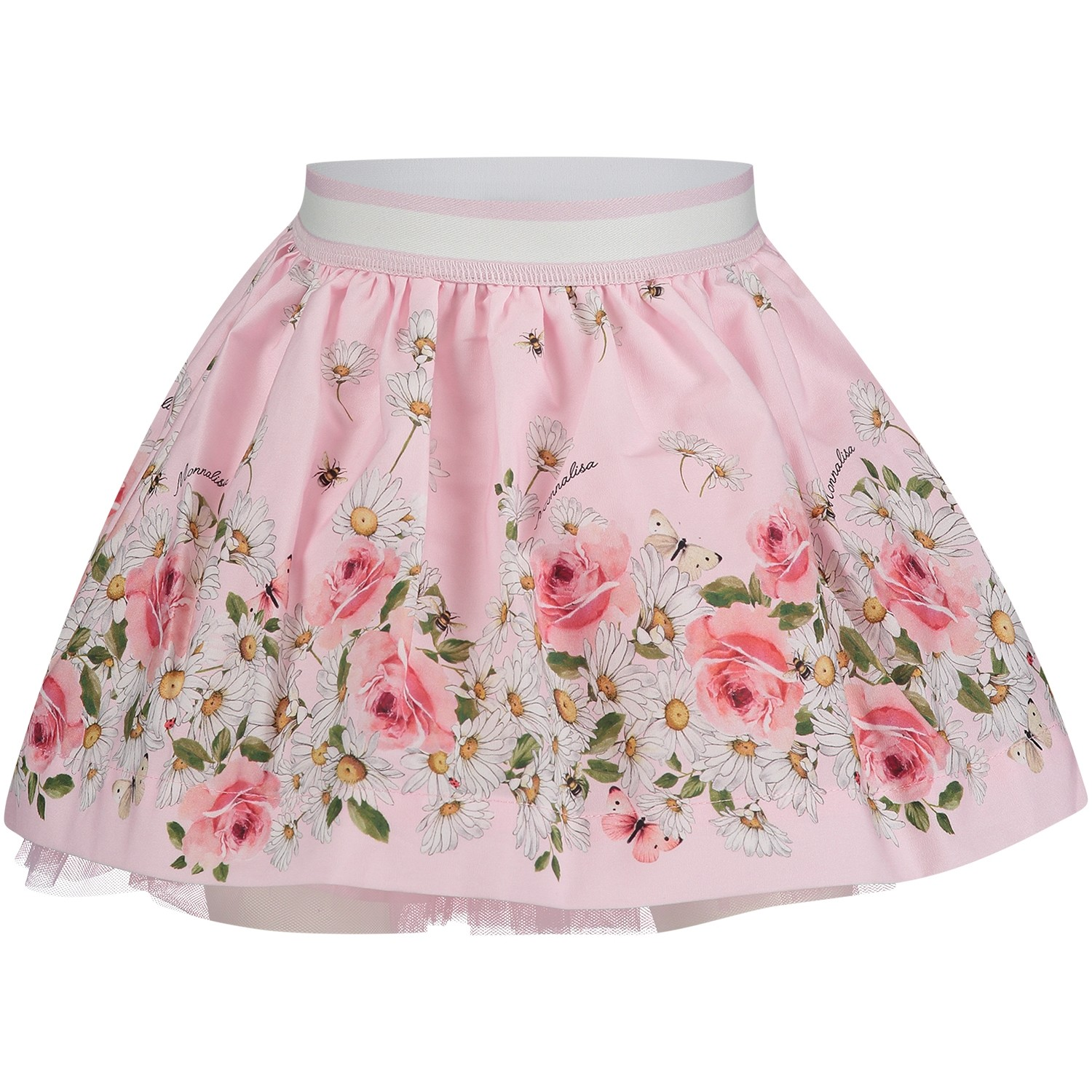 Picture of MonnaLisa 311703 baby skirt light pink