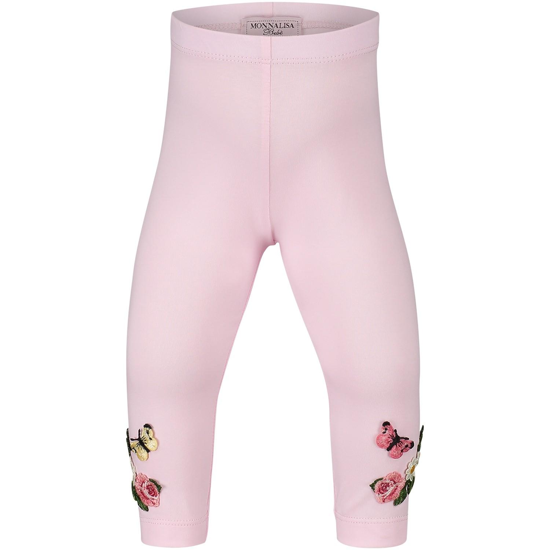 Afbeelding van MonnaLisa 311414AD baby legging licht roze