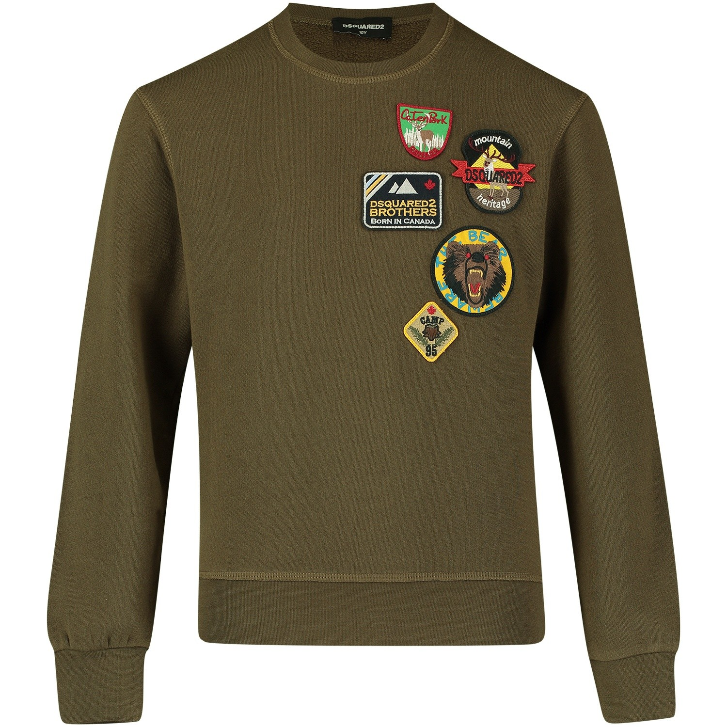 Picture of Dsquared2 DQ02VY kids sweater army