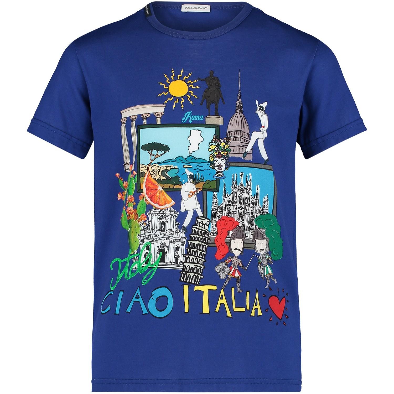 Afbeelding van Dolce & Gabbana L4JT8D kinder t-shirt cobalt blauw
