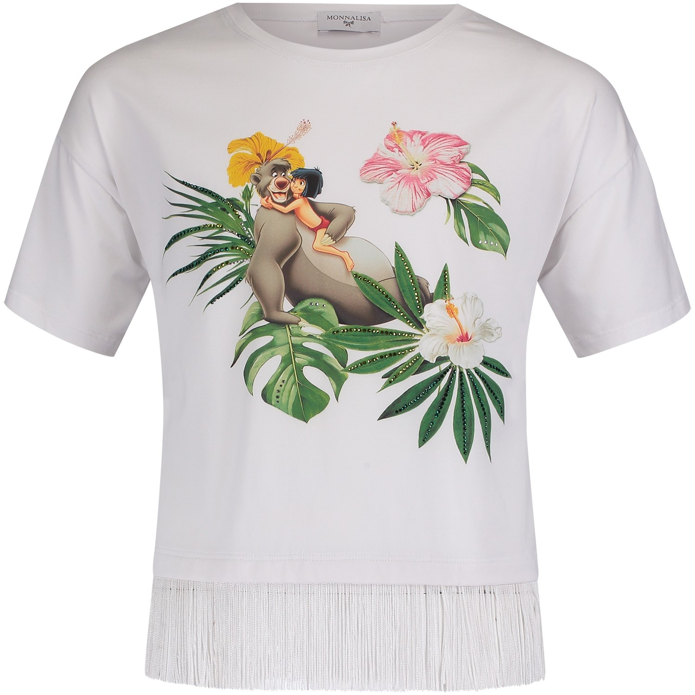 Afbeelding van MonnaLisa 191623SQ kinder t-shirt wit