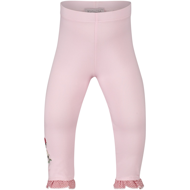 Afbeelding van MonnaLisa 391403R6 baby legging licht roze