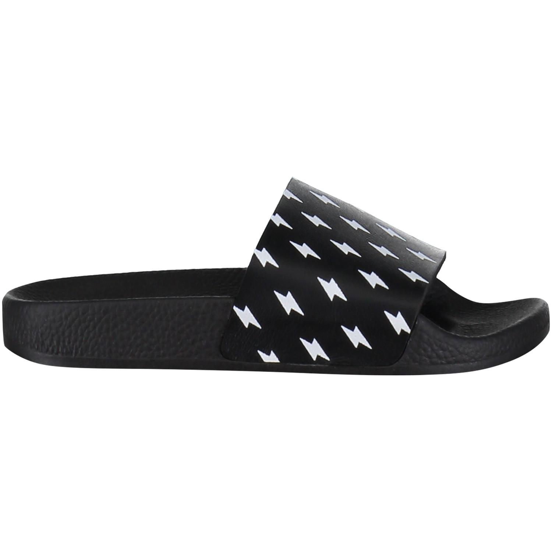 Afbeelding van The white Brand MINI RAYOS kinderslippers zwart