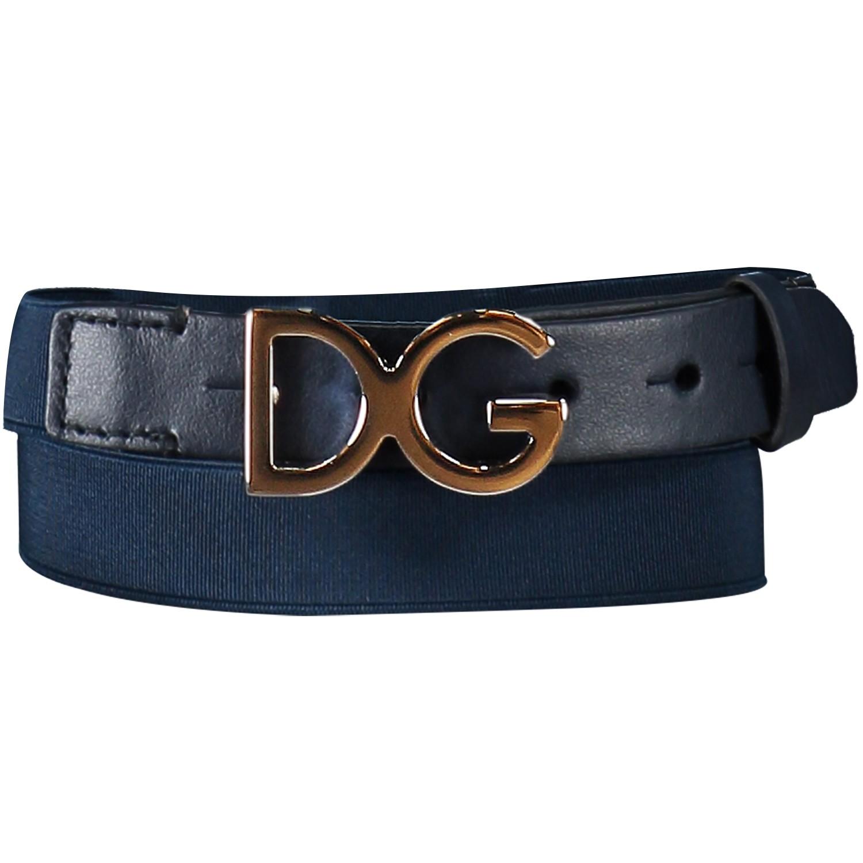 Afbeelding van Dolce & Gabbana EC0060 kinderriem navy