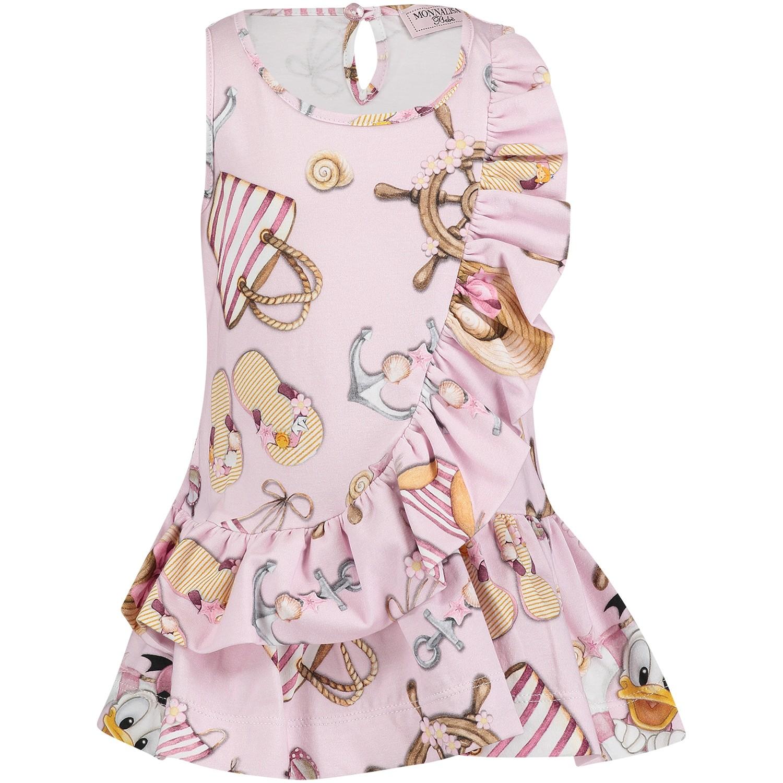 Afbeelding van MonnaLisa 311919 baby jurkje licht roze