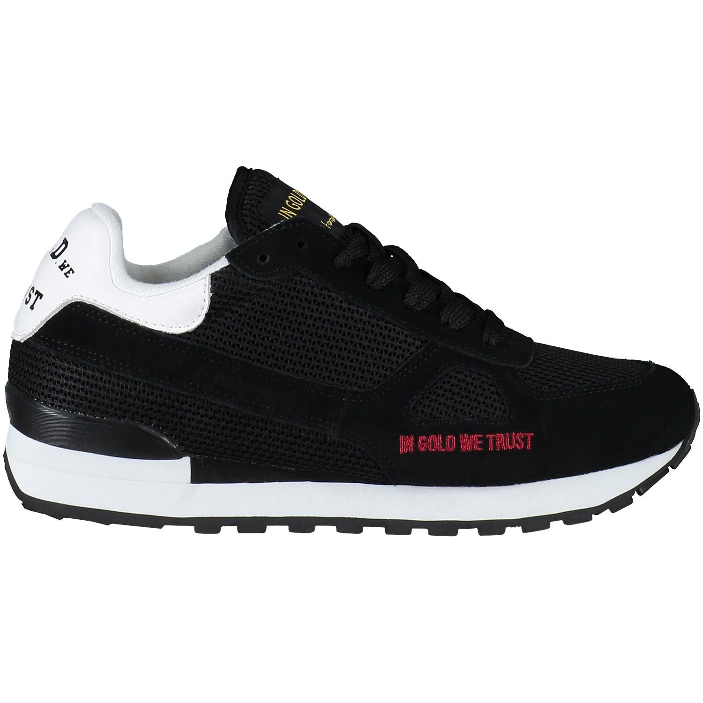 Afbeelding van In Gold We Trust FASN001 heren sneakers zwart