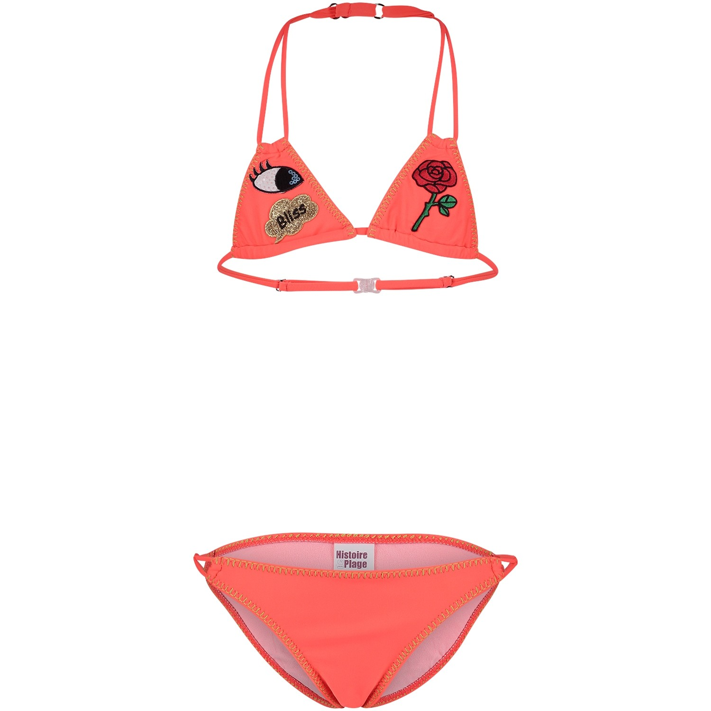 Afbeelding van Pate de Sable 2LIBBA8 kinder bikini fluor roze