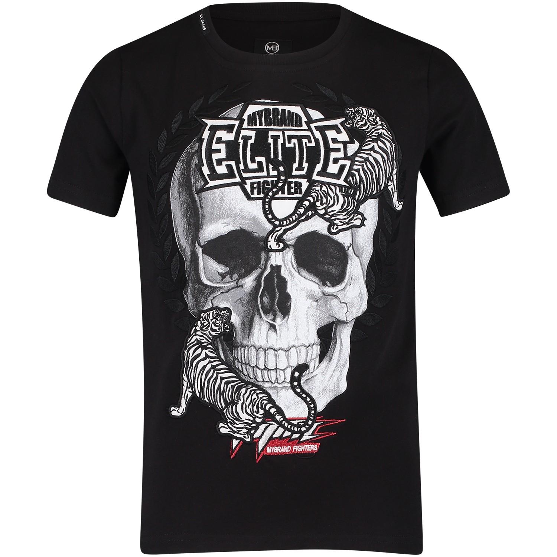 Afbeelding van My Brand BMBTS001MT044 kinder t-shirt zwart