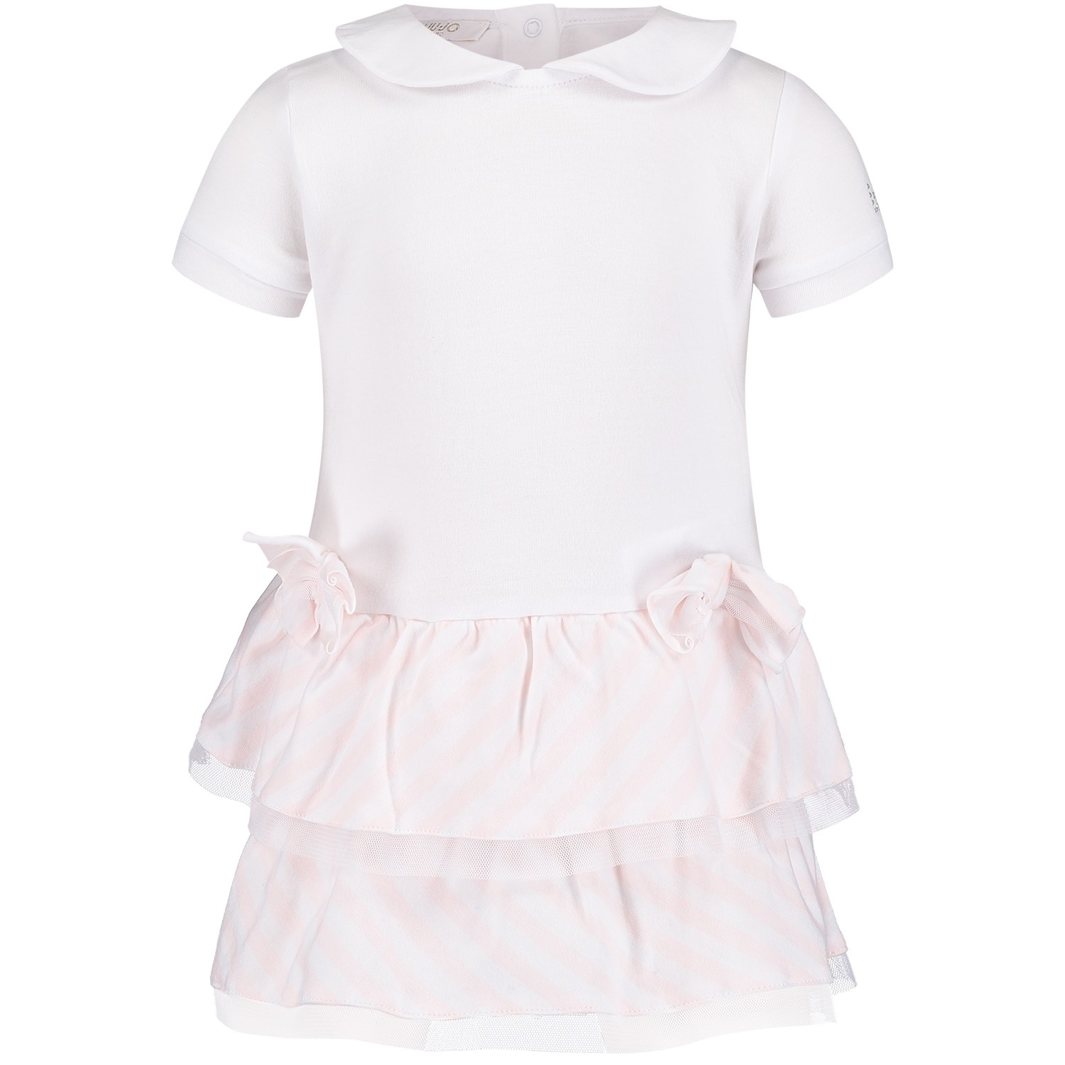 Picture of Liu Jo H18014 baby jumpsuit light pink