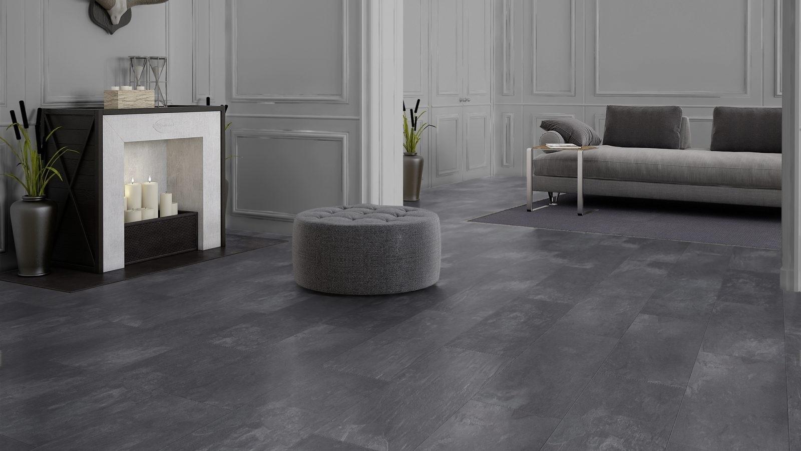 Pvc vloer antraciet. simple flexxfloors vinyl vloer terrazzo