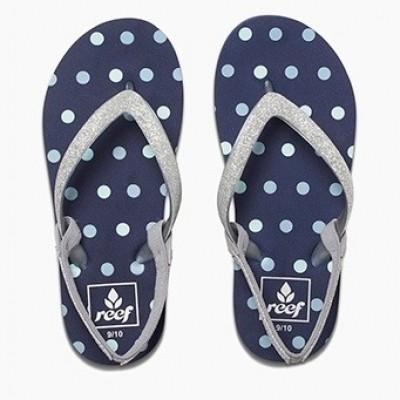 Reef meisjes slipper Stargazer blue dots