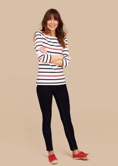 Joules dames bretone stripe shirt