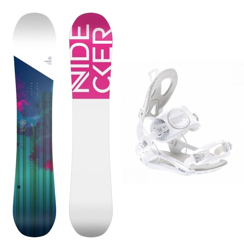 Complete snowboardset Angel+SP private bindingen