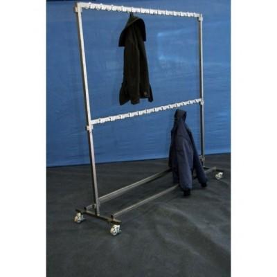 Garderobe stander met vast haken voor 100 jassen