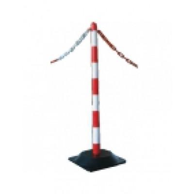 Ketting voor afzetpaaltjes rood/wit per meter