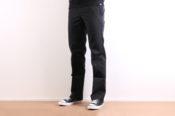 Foto van Dickies Workwear WP873-BK Chino Slim straight Zwart