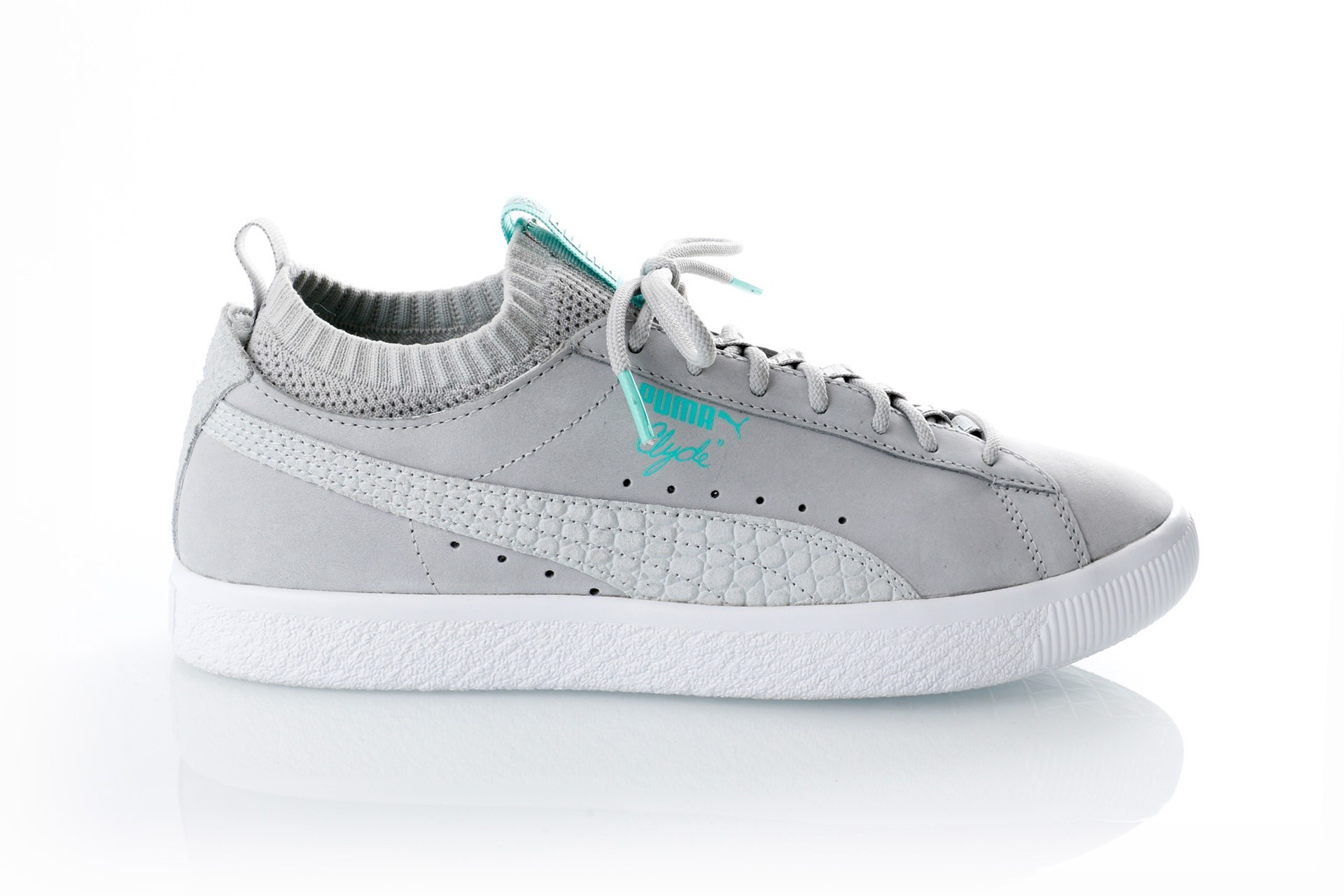 Foto van Puma Clyde Sock Lo DIAMOND 365653 sneakers glacier gray-glacier gray