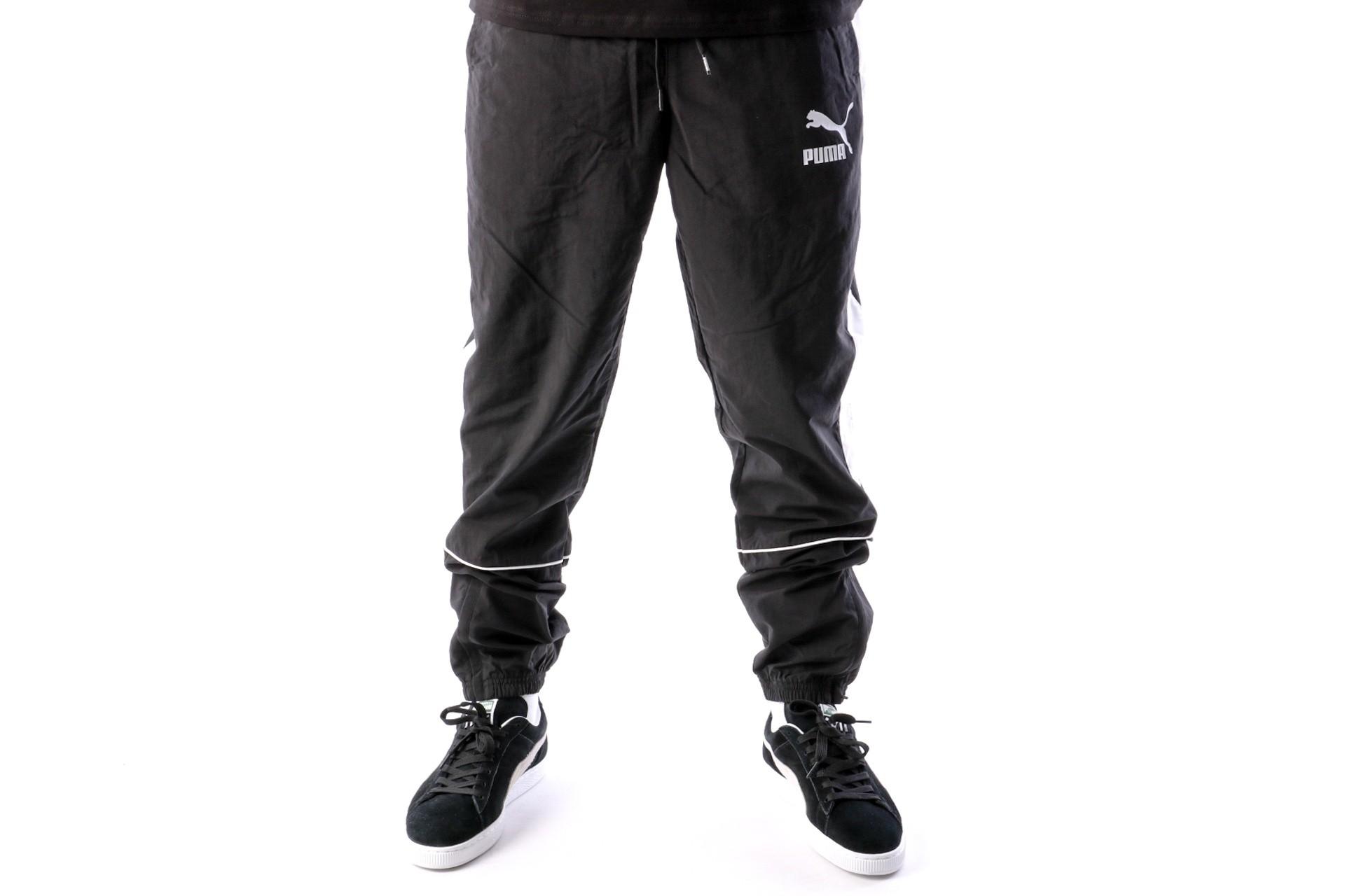 Foto van Puma Retro Woven Pants 576377 Track Pant Black-White