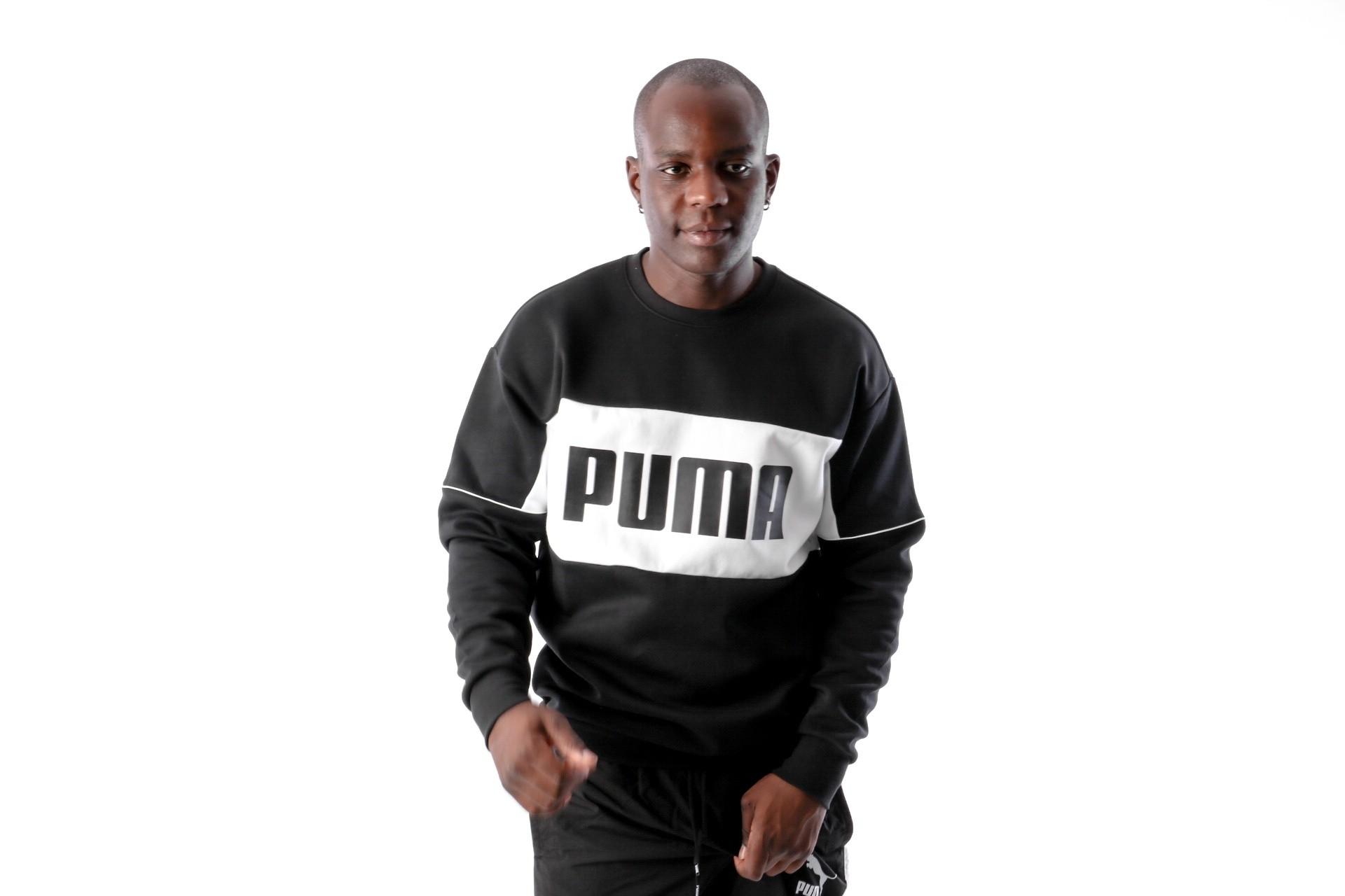 Foto van Puma Retro Crew DK 576836 Crewneck Black White
