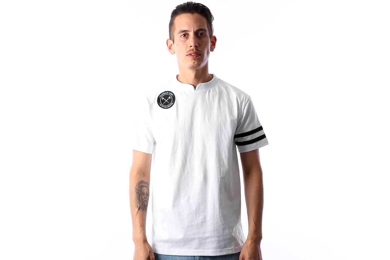 Foto van Instinct One Hattrick Footbal T-shirt IO-18002 White