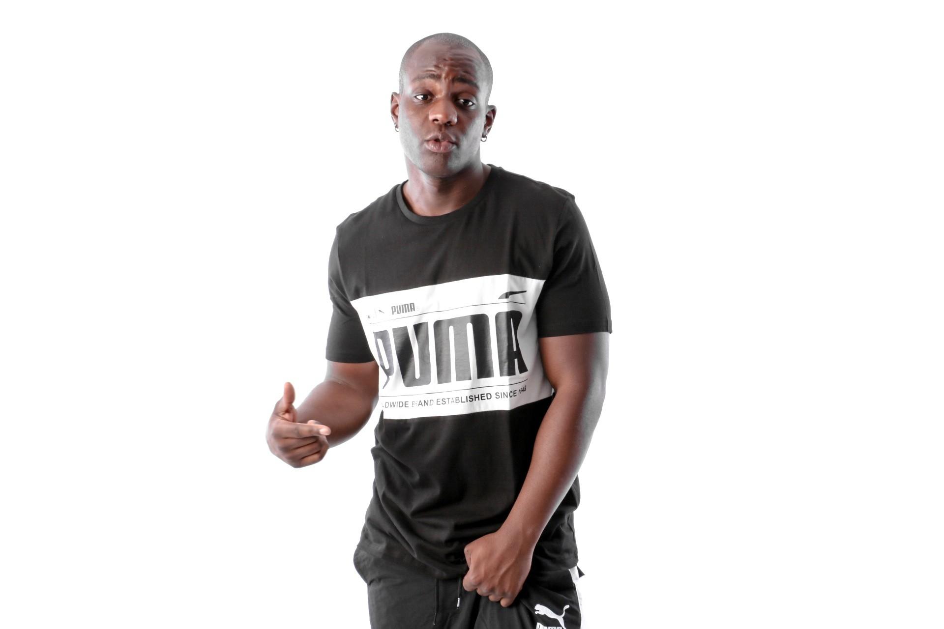 Foto van Puma Graphic Logi Block Tee 577126 T-Shirt Black-White