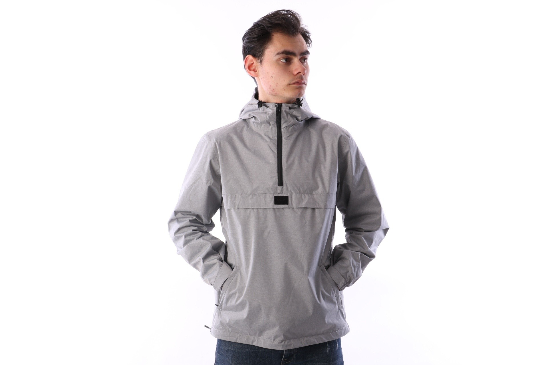 Foto van Reell Jacket Hooded Windbreaker Grijs