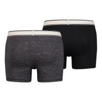 Afbeelding van Levi's Bodywear 985010001-030 Boxershort 200SF space dye heather boxer brief 2p Grijs