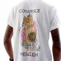 Afbeelding van New Alpha 013 Compesce Mentem T shirt 013RES-101 Virgin White / Multi