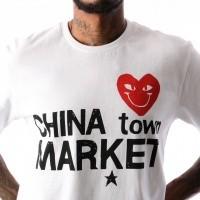Afbeelding van Chinatown Market Comme De Chinatown CTM-CDC T shirt White