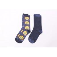 Afbeelding van Levi's Bodywear 973031001-321 Socks 168SF Regular cut smile 2P Blauw