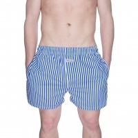 Afbeelding van Pockies Boxershort Navy Stripes Blue